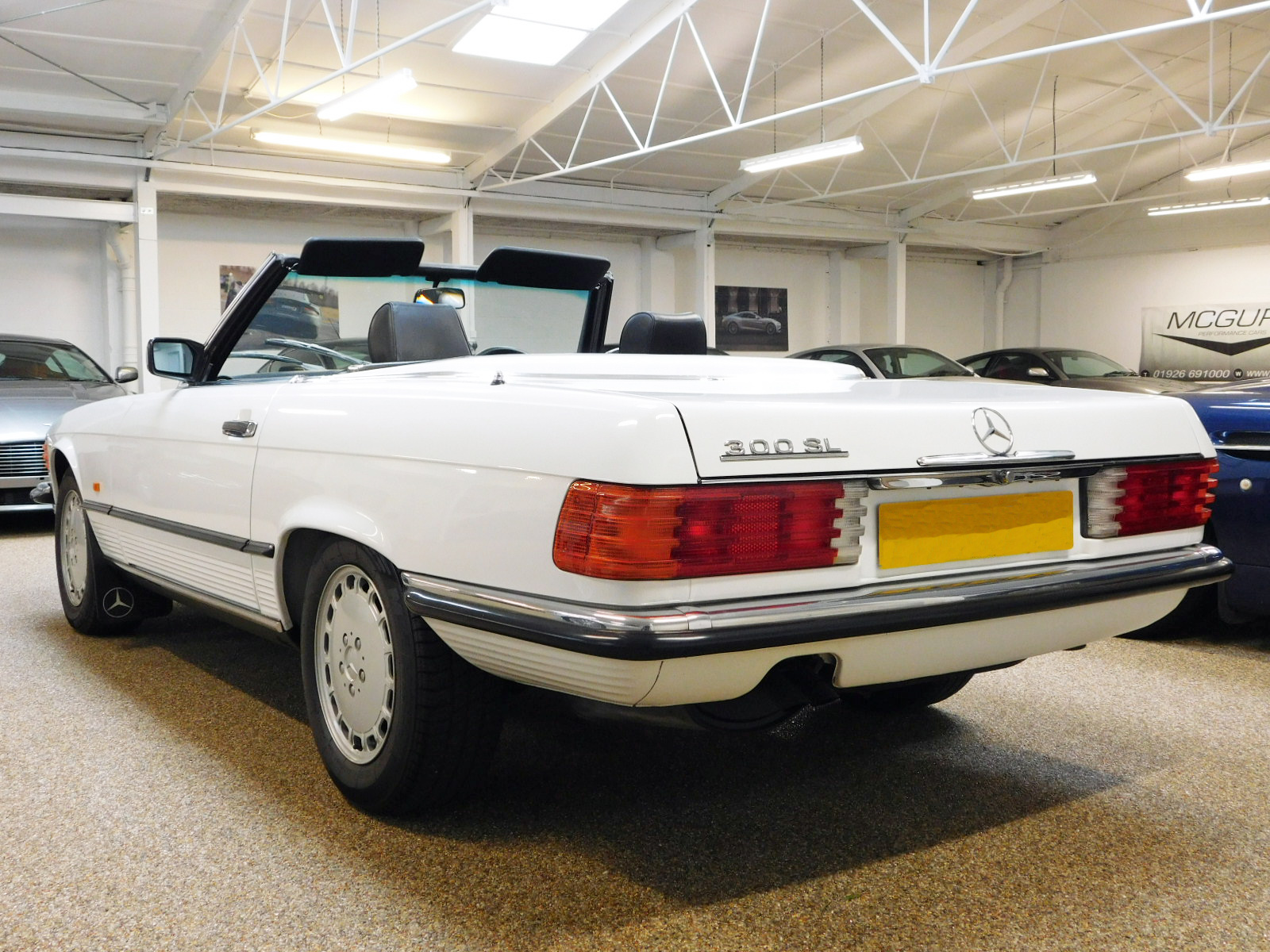 McGurk Performance Cars are pleased to offer this 300 SL. One Lady Owner From 1st August 1988 to 2016. Original Data Card And PDI Paperwork From 27-07-88. 18 Mercedes Benz Main Dealer Service Stamps Original Service Book. Last Serviced Mercedes Benz Stratford Upon Avon 2020. Every MOT From 3 Years Old to Date Documented As Follows: July 1991 16570 Miles. July 1992 20691 Miles. March 1993 21473 Miles. March 1994 24052 Miles. April 1995 25175 Miles. May 1996 26183 Miles. April 1997 27754 Miles. April 1998 28150 Miles. March 1999 28992 Miles. April 2000 29573 Miles. May 2001 30062 Miles. April 2002 30374 Miles. March 2003 30739 Miles. July 2004 31614 Miles. August 2005 32099 Miles. July 2006 32494 Miles. July 2007 32729 Miles. July 2008 32891 Miles. July 2009 33040 Miles. July 2010 33104 Miles. July 2011 33248 Miles. July 2012 33361 Miles. July 2013 33488 Miles. July 2014 33523 Miles. August 2015 33558 Miles. August 2016 34343 Miles. August 2017 34502 Miles August 2018 34560 Miles Only 2 Mot Advisories To Date As Follows: Slightly Blocked Washer Jets. Slight Exhaust Blow, Renewed By Mercedes Benz. Original Tool Kit And Hand Books Including Leather Wallet. X4 Michelin Factory Tyres. Full Black leather Interior. Rear Seating. Original Fire Extinguisher. Spare Wheel & Tyre Unused. Original Number Plates From 1988 Macclesfield Mercedes Benz. Electric Windows. Front Fog Lights. Original Black Mohair Soft Top. White Factory Fitted Hard Top. Immaculate Unmarked Condition Throughout. Very Rare To Source In This Immaculate Unrestored Condition. Original Factory Paintwork And Wax Oil. A Perfect Example For Increasing Investment Potential Or Show Vehicle.